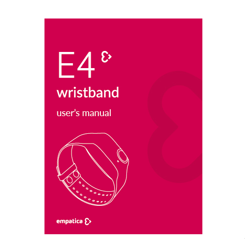 E4 wristband user's manual
