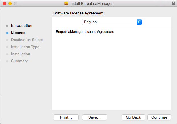 Empatica Manager Software License Agreement