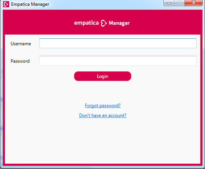 E4 wristband connection to Empatica Manager